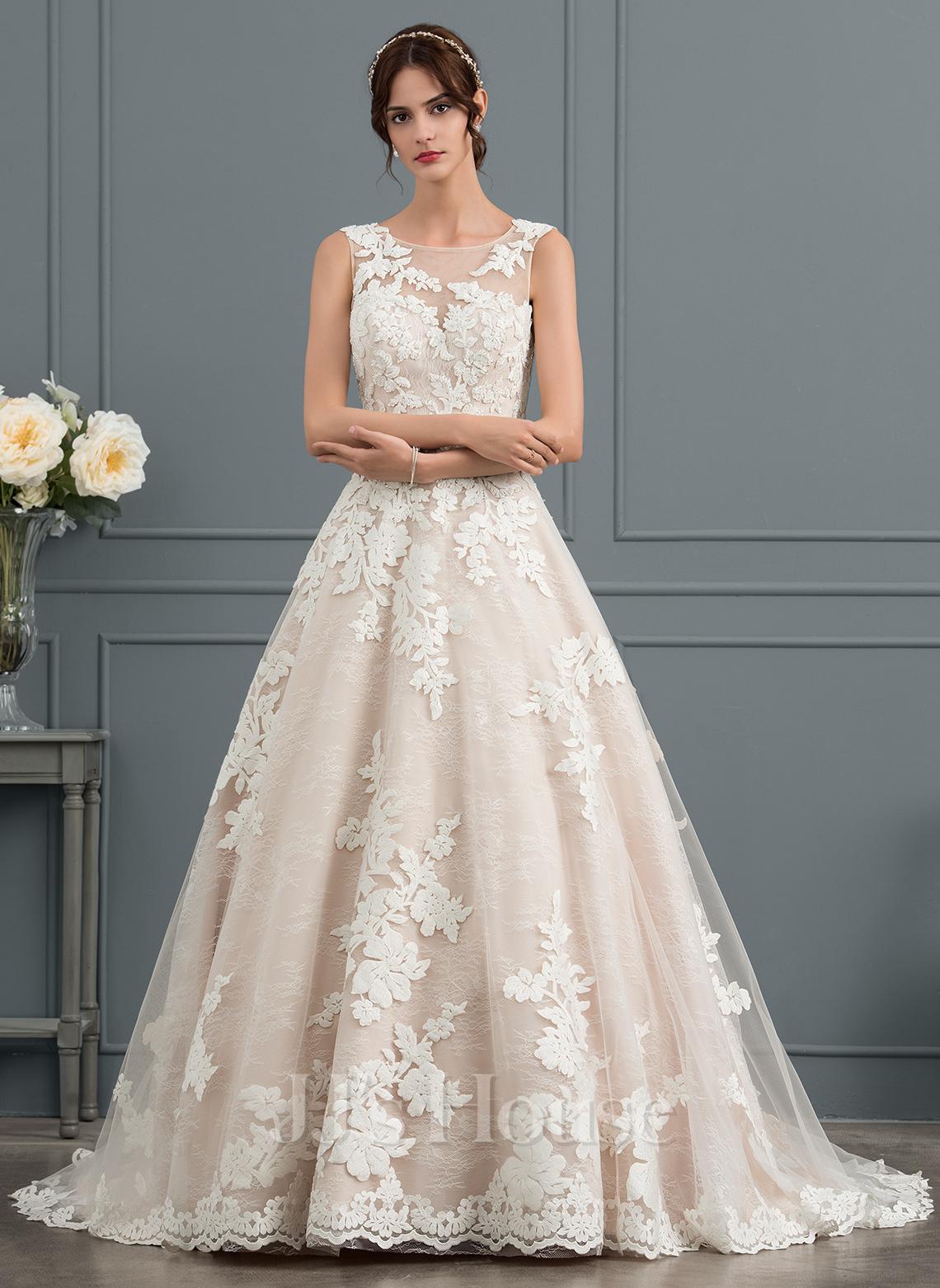 d83a5c03e De Baile Princesa Ilusão Cauda de sereia Tule Vestido de noiva com Beading  lantejoulas