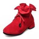 Girl's Round Toe Closed Toe Ankle Boots Suede Flat Heel Flats Boots Flower Girl Shoes With Bowknot Zipper