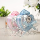 Lovely/Heart style Heart-shaped Metal Candy Jars and Bottles With Ribbons (Set of 12)