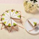 Sweet Love/Creative/Lovely/Elegant Cubic Card Paper Favor Boxes With Flowers/Ribbons (Set of 10)