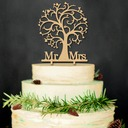 Mr & Mrs Hout Taarttoppers (Set van 2)