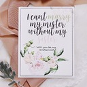 Bridesmaid Gifts - Elegant Card Paper Wedding Day Card