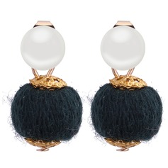 Fashional Imitation Pearls Copper With Imitation Pearl Women's Fashion Earrings (Set of 2)