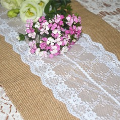 Mantel de mesa Lino/Encaje (Sold in a single piece) Pretty Pretty/Elegante Centros de mesa
