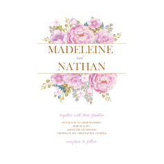 Colorful Flowers Wedding Cards