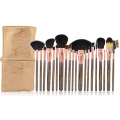20 Pcs Natural Goat Hair Makeup Brush Set With Pouch (046049060)