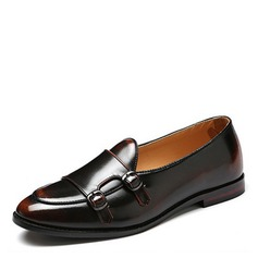 Homens Couro Penny Loafer Casual Mocassins Masculinos