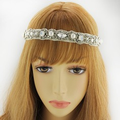 Ladies Romantic Satin Headbands With Rhinestone (Sold in single piece)