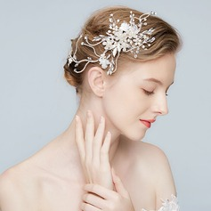 Unique Alloy Hairpins With Rhinestone/Venetian Pearl/Crystal (Sold in single piece)