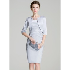 Half-Sleeve Satin Special Occasion Wrap