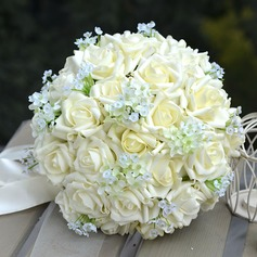 Charming Round PE Bridal Bouquets/Bridesmaid Bouquets (123068416)