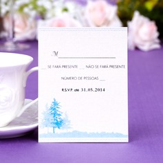 Personalized Tree Design Pearl Paper Response Cards