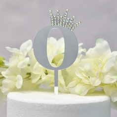 Happy Anniversary/Happy Birthday Acrylic Cake Topper (Sold in a single piece)