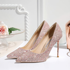 Vrouwen Sprankelende Glitter Stiletto Heel Closed Toe Pumps