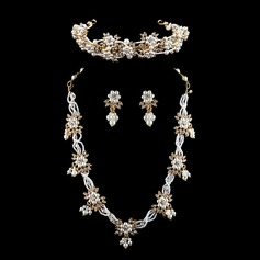 Exquisite Alloy/Imitation Pearls With Rhinestone Ladies' Jewelry Sets