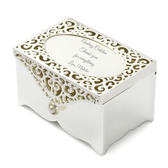 Personalized Cuboid Zinc Alloy Jewelry Holders