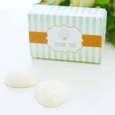 """Ocean Breeze"" Seashell Scented Soaps Wedding Favor"
