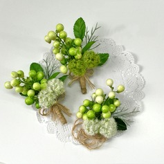 Cute Artificial Silk Flower Sets (set of 2) - Wrist Corsage/Boutonniere