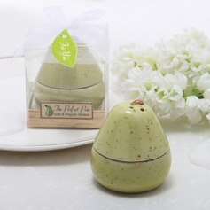 Pear Shaped Ceramic Salt & Pepper Shakers