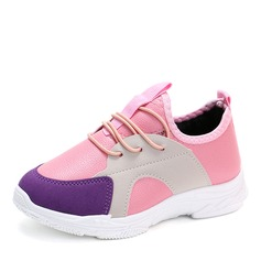 Unisex Round Toe Closed Toe Leatherette Flats Sneakers & Athletic With Lace-up