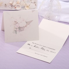 Personalized Floral Style Top Fold Response Cards