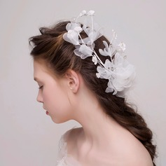 Simple Imitation Pearls/Silk Flower/Tulle/Plastic Headbands