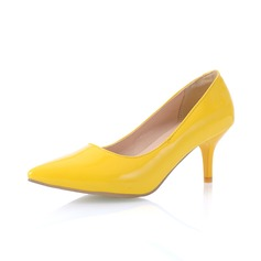Patent Leather Kitten Heel Pumps Closed Toe shoes