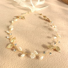 Ladies Pretty Crystal/Imitation Pearls Tiaras
