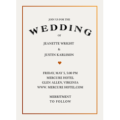 Simple Enchantment Wedding Cards