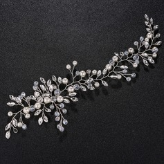 Ladies Eye-catching Alloy Headbands With Venetian Pearl/Crystal