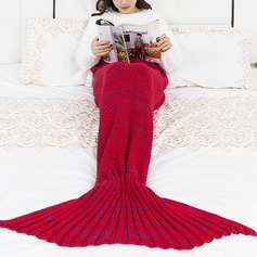 Warmth Yarn Knitted Throw Bed Mermaid Blanket,140*70 (Sold in a single)