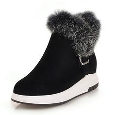Vrouwen Suede Flat Heel Plateau Laarzen Snowboots met Gesp schoenen