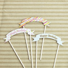 13 cm Happy Birthday Paper Cake Topper