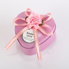 Sweet Love Heart-shaped Favor Tin With Ribbons/Bow
