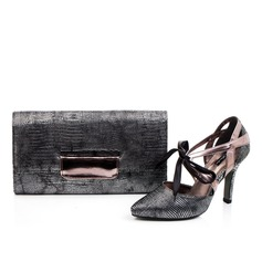 Fashional Faux Leather Shoes & Matching Bags