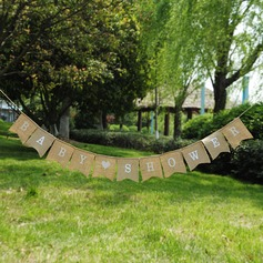 BABY SHOWER Burlap Photo Booth Props/Banner