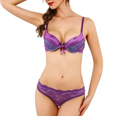 Polyester/Bomull Underwire/Push-up BH/Lingerie Set