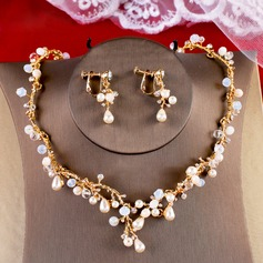 Gorgeous Crystal/Imitation Pearls With Imitation Pearls Ladies' Jewelry Sets