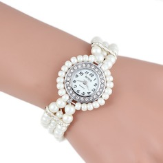 Beautiful Alloy Pearl With Rhinestone Ladies' Watches