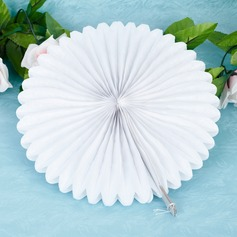 "10""(25cm) Pure/Fan Shaped Paper Flower  (More Colors)"