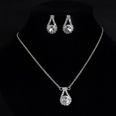 Beautiful Alloy Rhinestones With Rhinestone Ladies' Jewelry Sets (137106170)
