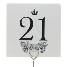 Crown Design Table Number Cards