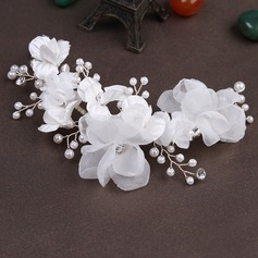 Stylish Imitation Pearls/Artificial Silk Flowers & Feathers/Headbands