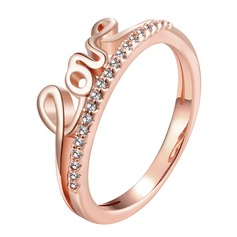 Eternal Love Copper/Zircon Ladies' Rings
