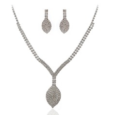 Luxurious Alloy/Czech Stones Ladies' Jewelry Sets