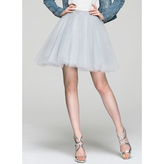 A-Line/Princess Short/Mini Tulle Cocktail Dress