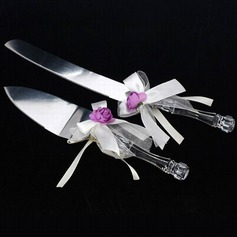 Floral Theme Serving Sets With Ribbons