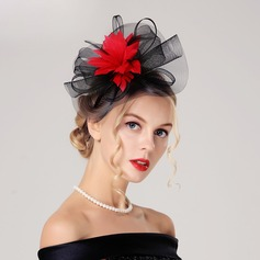 Signore Bella/Gorgeous Poliestere con Piuma/Tyll Fascinators
