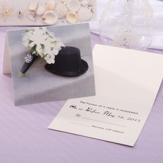 Personalized Classic Style Top Fold Response Cards