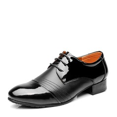Men's Real Leather Latin With Lace-up Dance Shoes